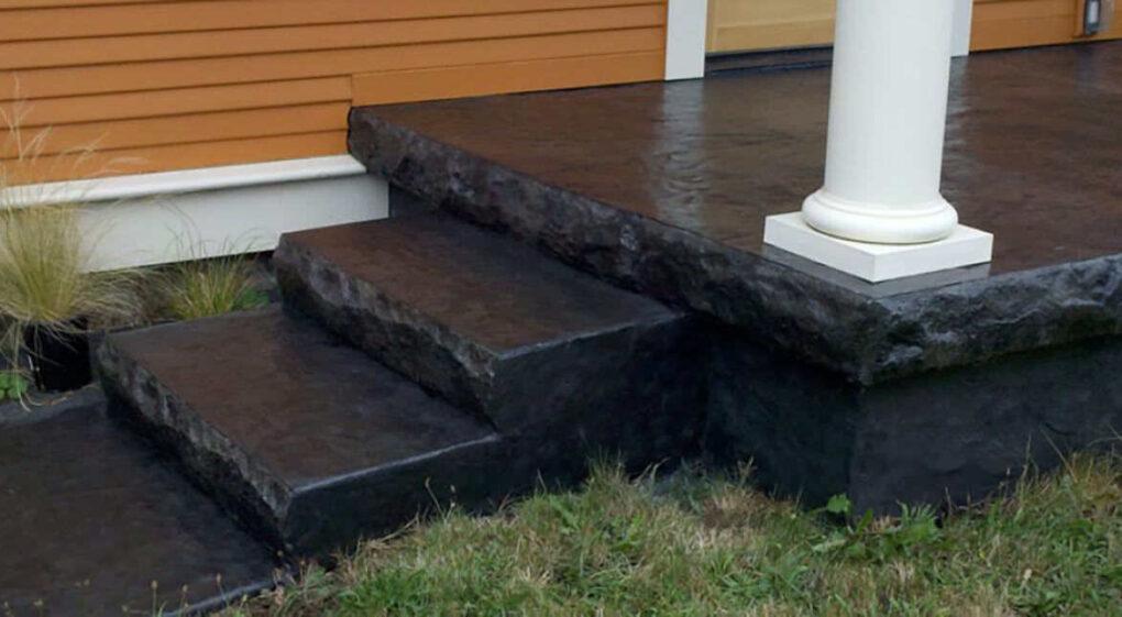 Concrete steps stone