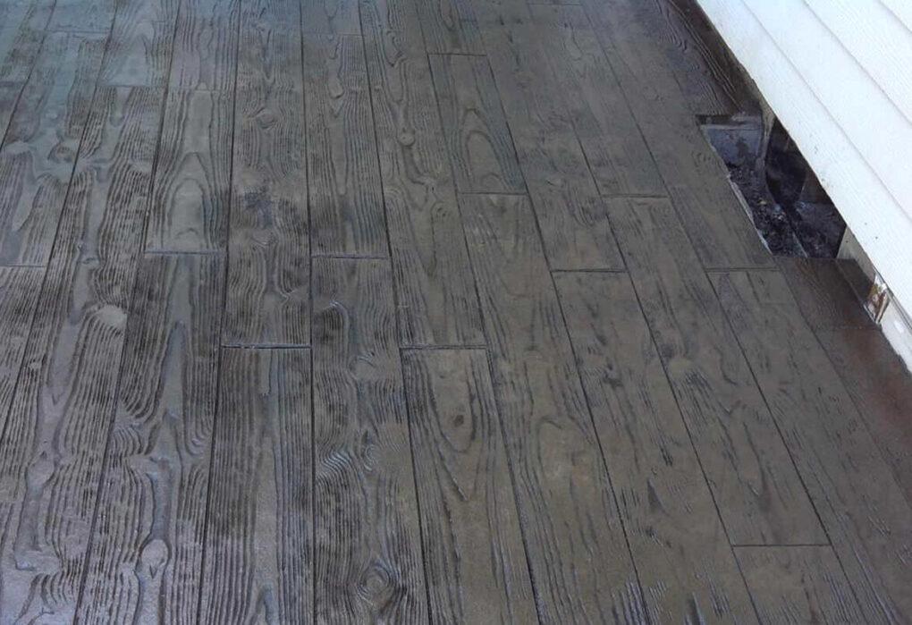 Concrete wood planks