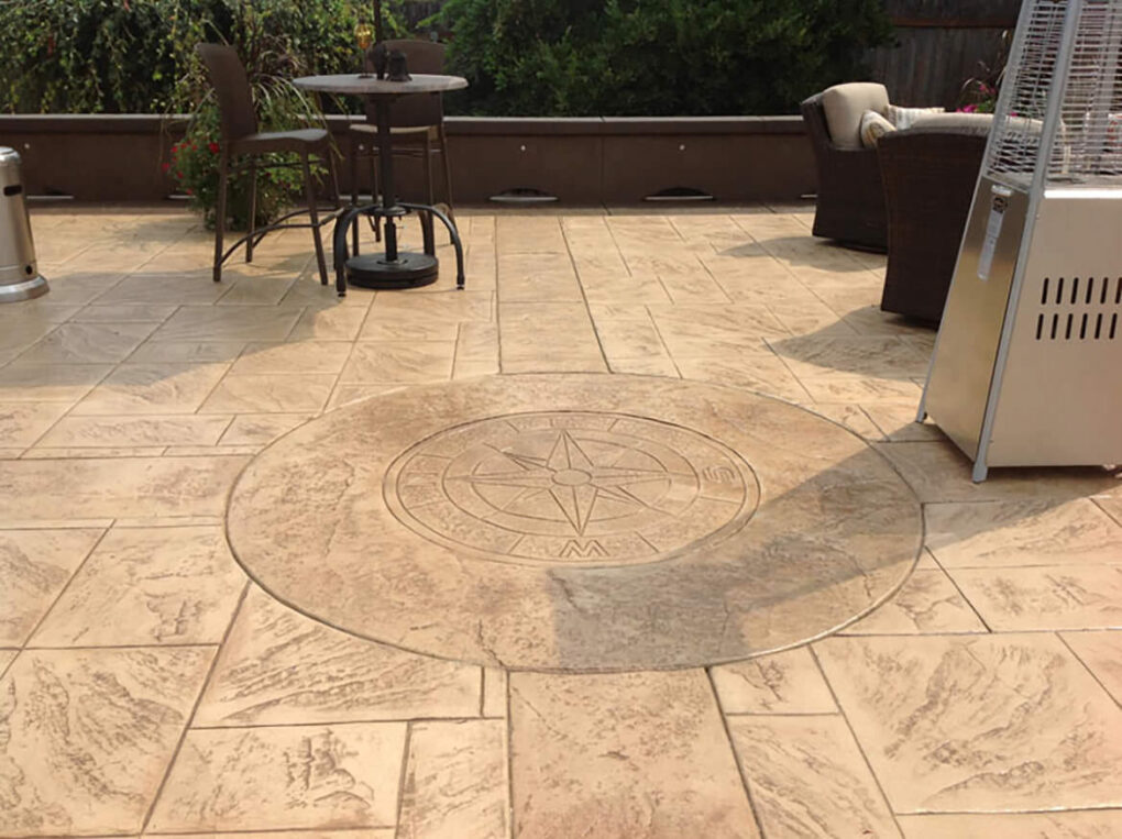 Stamped concrete design details color