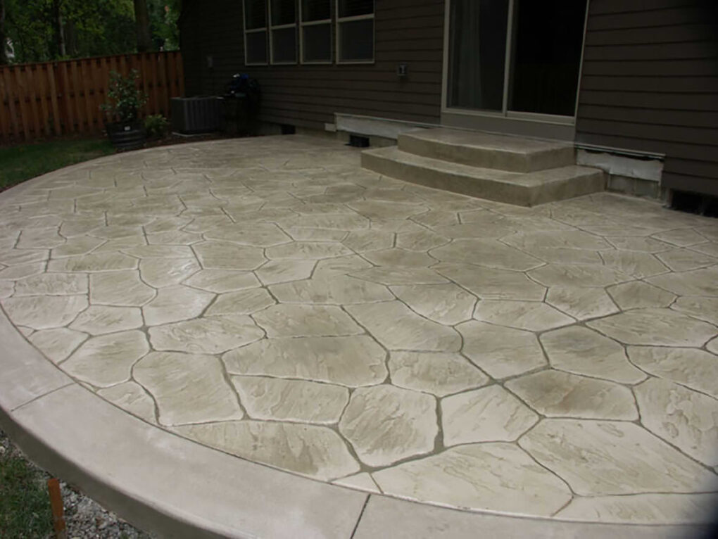 Stamped concrete patio stone