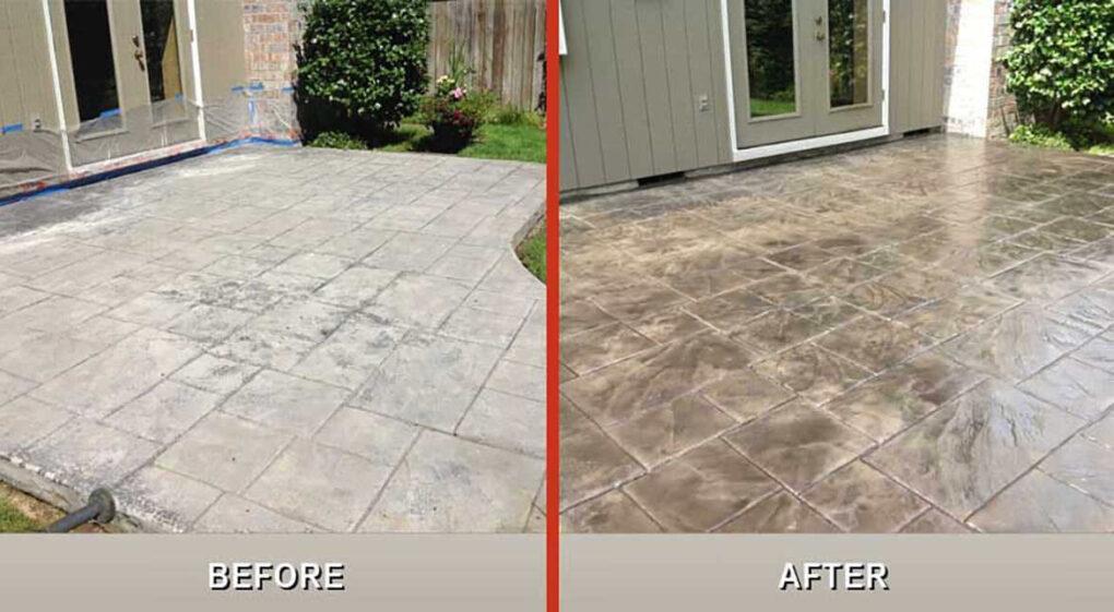 Sealed vs unsealed concrete patio
