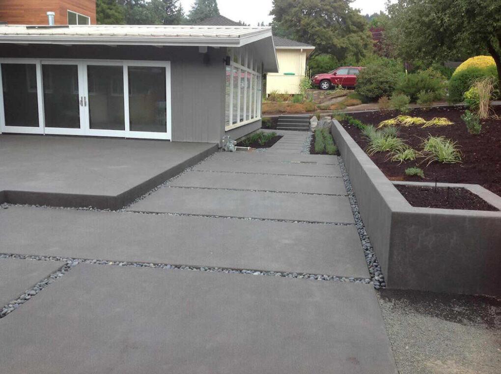 Xeriscape portland spaced concrete