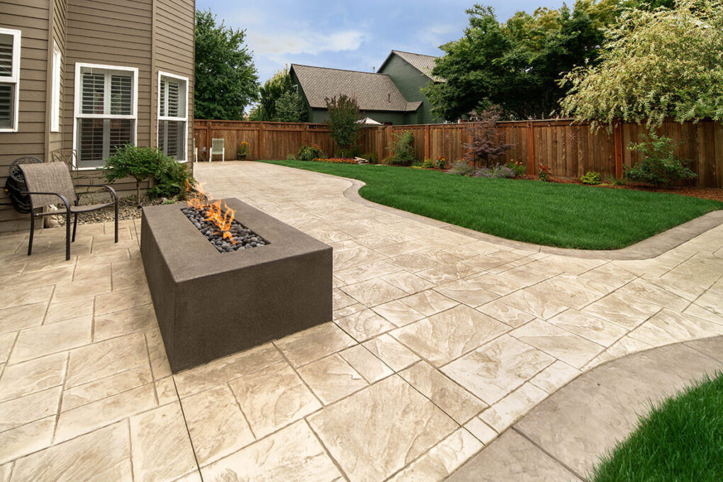 1 wilsonville stamped concrete patio firepit