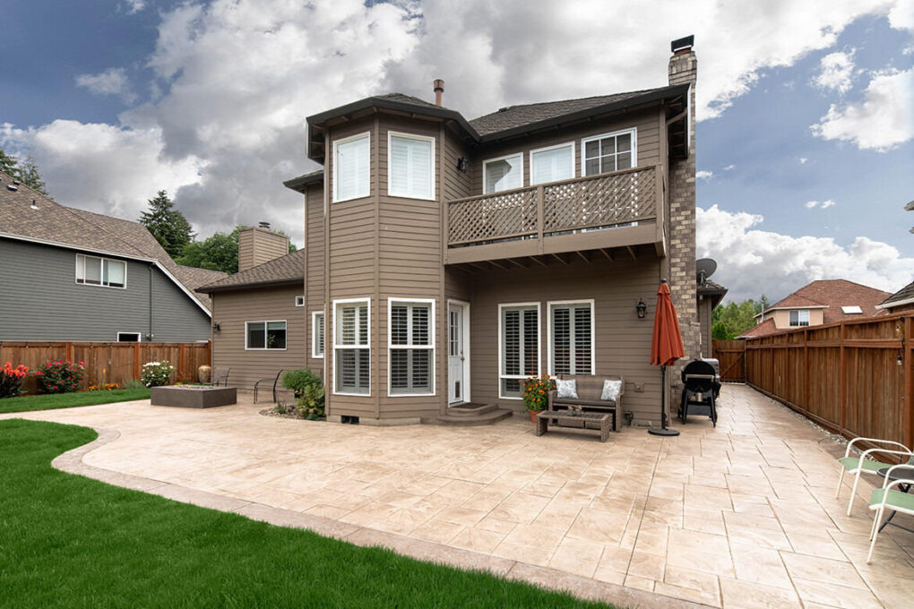 9 wilsonville stamped patio smokey beige color hardener