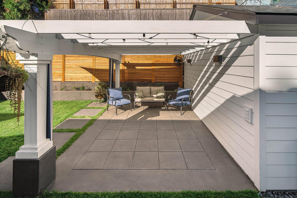 2 alameda pewter sand finish patio spaced concrete