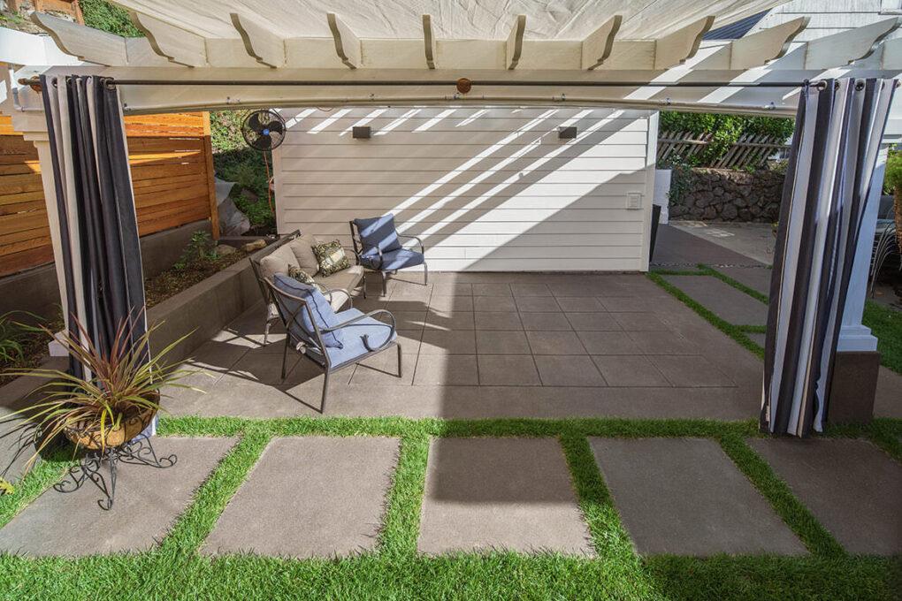 3 alameda sand finish spaced concrete patio