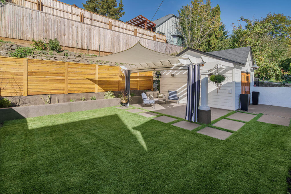 4 alameda sand finish planter walls backyard patio