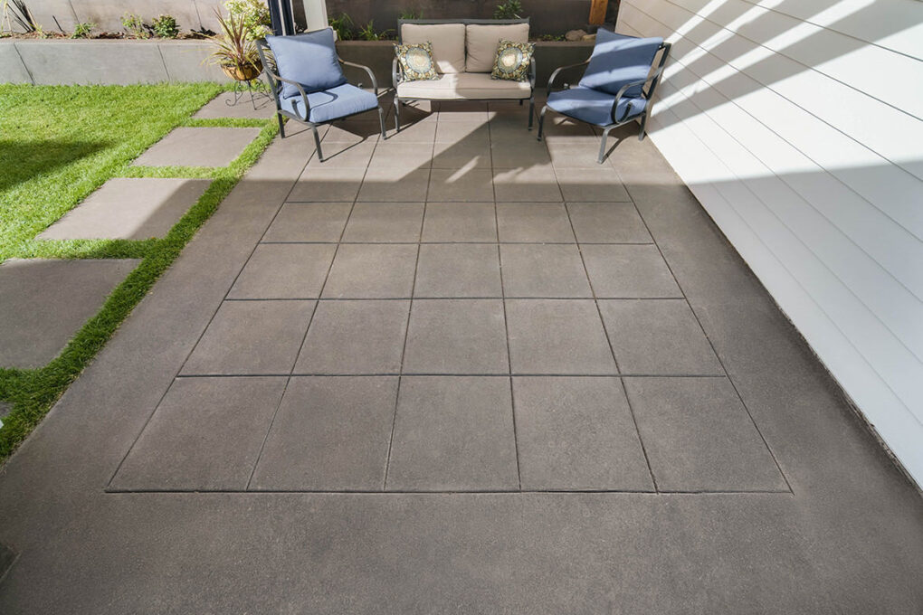 6 alameda pewter sand finish patio wet cut joints