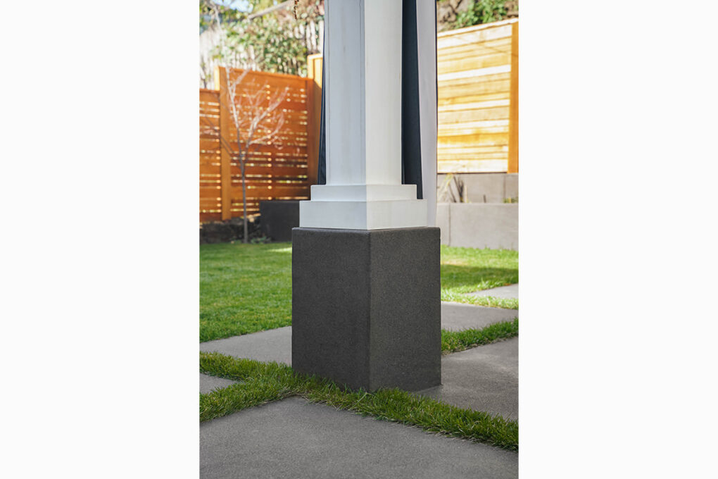 8 alameda pewter sand finish patio pergola column