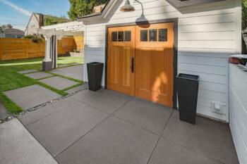 1 alameda pewter sand finish driveway