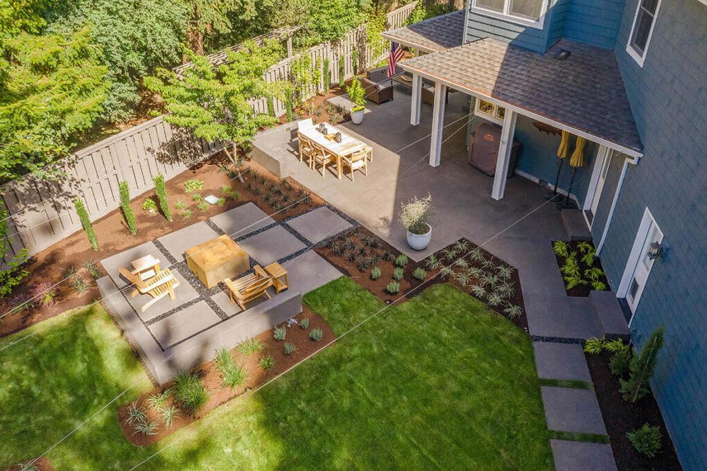 11 cedar hills sand finish spaced concrete patio