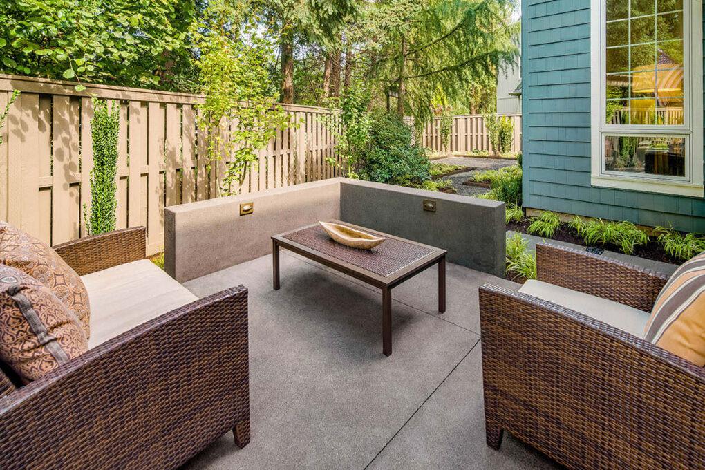 3 cedar hills ourdoor patio seating concrete seat walls