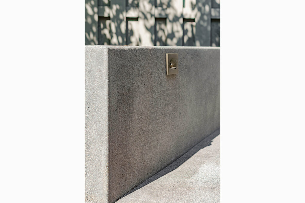 4 cedar hills concrete seat wall outdoor lighting