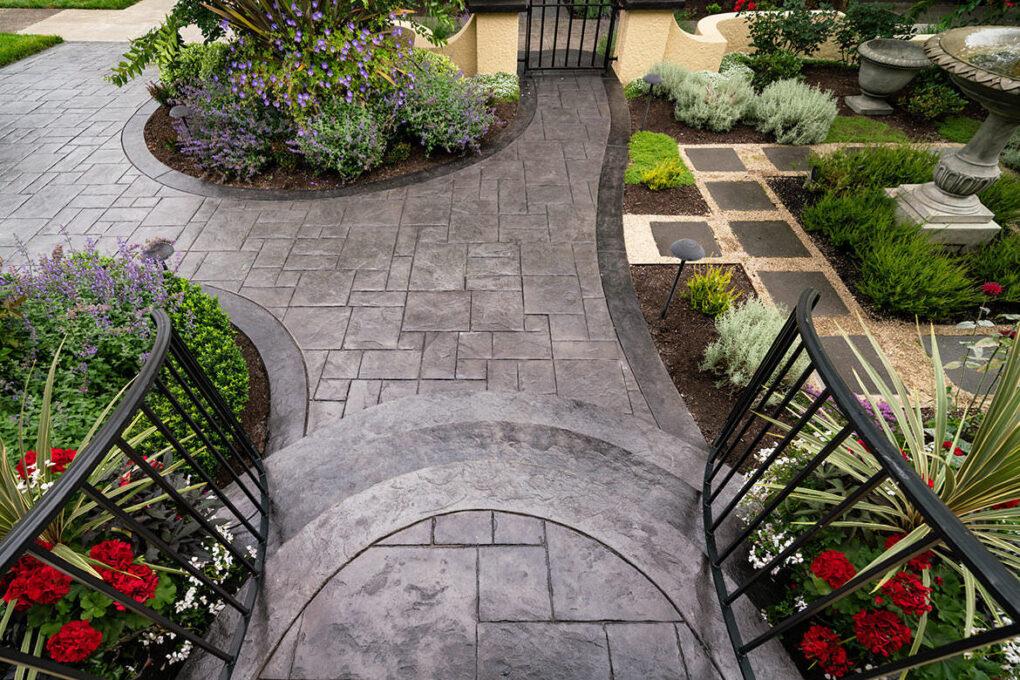 5 grant park stamped concrete front patio