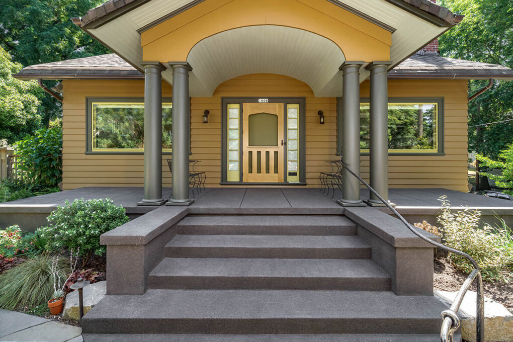 1 irvington cantilivered entry steps porch