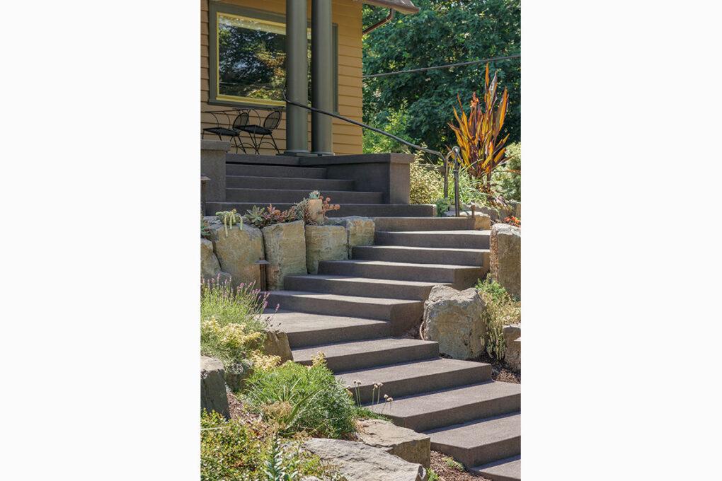 6 irvington sand finish entry stairs