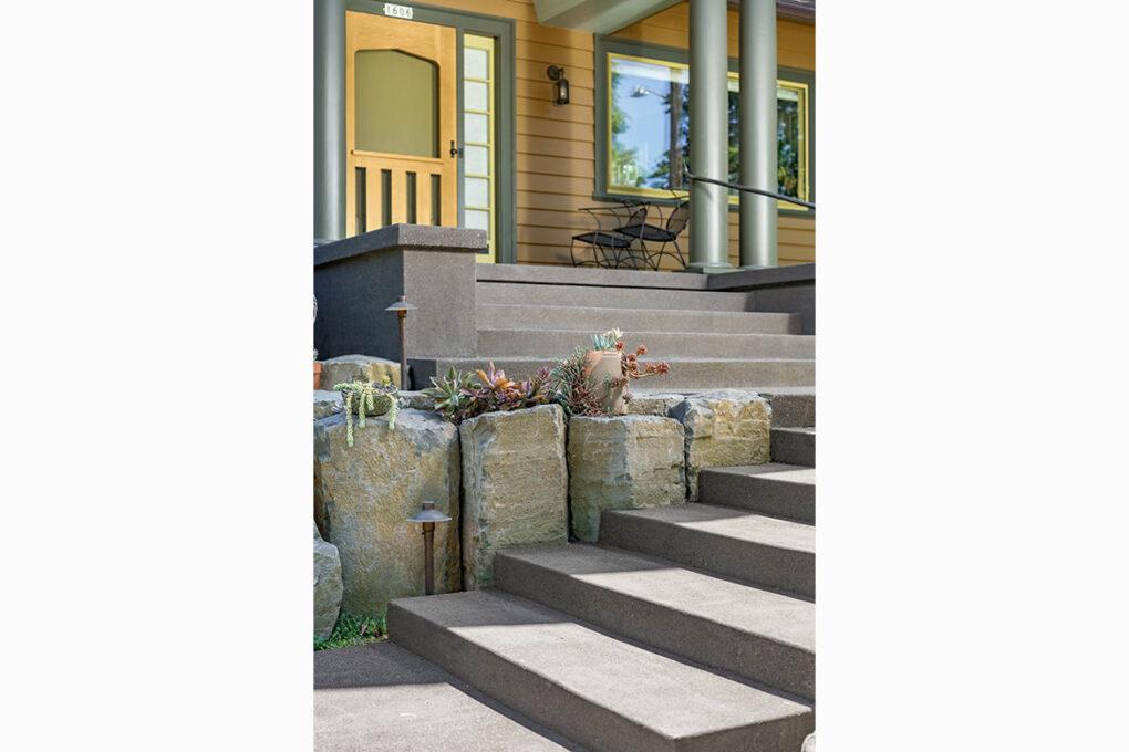 8 irvington sand finish stairway