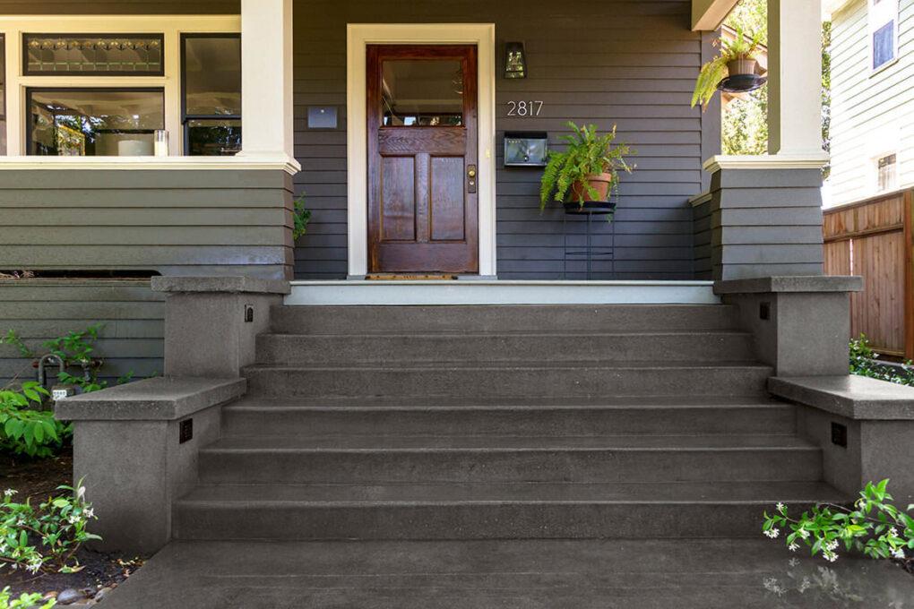1 irvington sand finish entry stairs