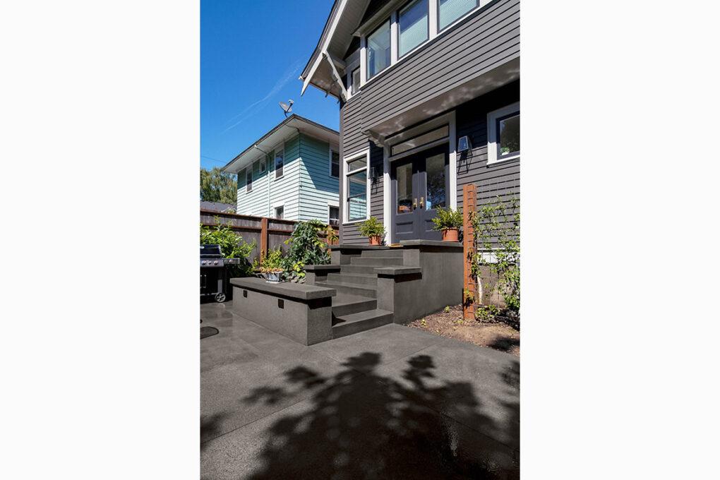 2 irvington sand finish patio stairs