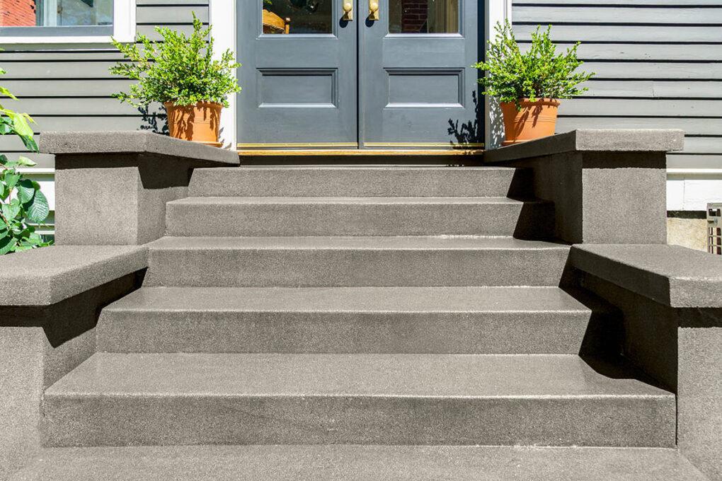 3 irvington sand finish stairs